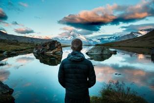 unsplash free image - mountain lake